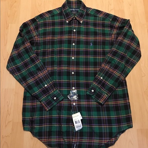 6fb290b266975 Men s Polo Ralph Lauren Long-Sleeve Plaid Shirt M